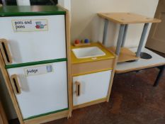 *Toy Kitchen with Cupboards, Sink, Tables, etc.