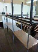*Nine Assorted School Tables