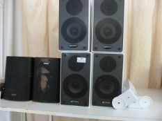 *Three Pairs of Speakers with Two Sets of Mounting Brackets