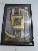 Framed Contemporary Style Poster