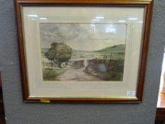 Framed Water Colour John E. Parkin - Country Scene