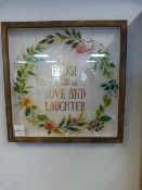 """Decorative Wall Hanging """"This House is Built on Lo"""