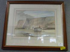 Framed Water Colour John E. Parkin - Coastal Scen