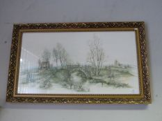 Gilt Framed Picture of a Country Scene