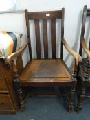 Highback Oak Armchair
