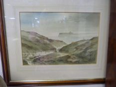 Framed Water Colour John E. Parkin - Coastal Scene