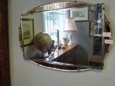Frameless Deco Style Beveled Edge Mirror