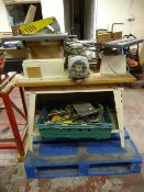 Workbench with Circular Saw, Plane, Mitre and Box