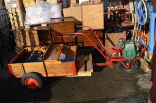 Colwood Inter Row General Cultivator with Villers Engine and Seated Wooden Trailer