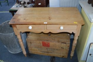 Stripped Pine Kitchen Side Table
