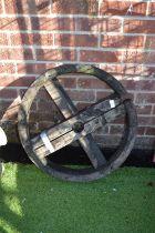 Wooden Barrel Wheel for Restoration