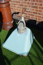 Large Enameled Lamp
