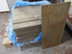 *Pallet of ~27 Wooden Shelves ~80x40x1.5cm