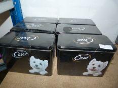 *Six Tins of Cesar Dog Food