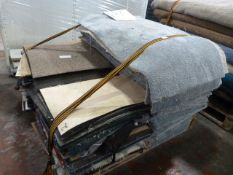 Pallet of Assorted Carpet Tiles and Offcuts