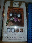 *Four Seasons Vintage Style Clock Planter