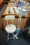 Power Steam Mop, Folding Chair and a Brush