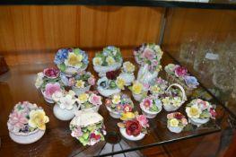 Twenty Two Pottery Flower Posies