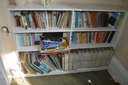 Six Shelves of Assorted Books Including New English Encyclopedia, Gardening Books, etc.