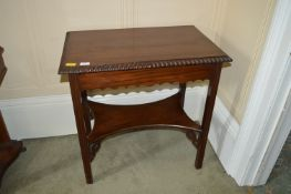 Small Two Tier Mahogany Side Table