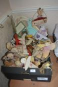Box Containing Decorative Wooden Wall Plaques, Bookends, etc.