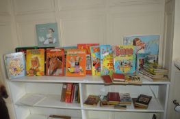Collection of Children's Books Including Beano, Dandy, Lucy Atwell, etc.