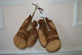 Pair of Vintage Leather Boxing Gloves (AF)