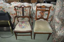 Two Vintage Dining Chairs (AF)