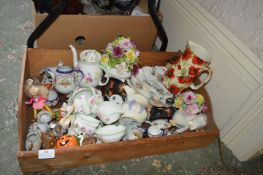 Box of Assorted Pottery and China