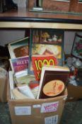 Box Containing an Assortment of Books Including Cook Books, Joke Books, etc.