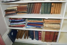 Three Shelves of Old Books Including Natural History, Decorating, etc.