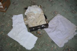 Box Containing Assorted Linen and Table Cloths