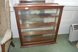 Dark Wood Glazed Display Cabinet with Three Shelves