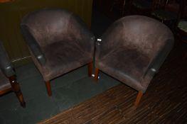 Pair of Leatherette Tub Seats