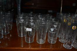 Fifteen Worthington Pint Glasses