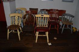 Thirteen Assorted Chairs