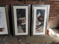 Pair of Framed Prints Depicting Wine Bottles