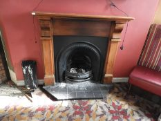 Reproduction Victorian Cast Iron Fire Place with Pine Surround