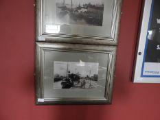 Framed Black & White Photograph of Alexander Dock