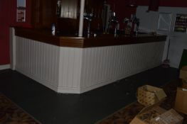 Mahogany Topped Bar and Bar Back as Fitted ~2.3x4.4m