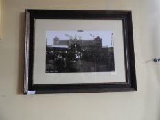 Framed Black & White Photograph of Hull Fair