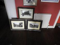 Three Framed Black & White Photographs of Hull Scenes