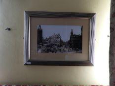 Framed Black & White Photograph of Victoria Square
