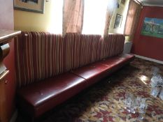 Bench Seating as Fitted with Leatherette Seat and Upholstered Back ~4.5m long