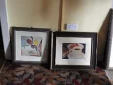 Two Contemporary Style Still Life Prints