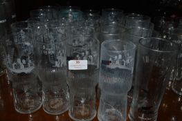 Twenty-Five Carling Pint Glasses