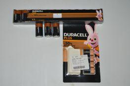 *Duracell D Batteries plus Four 9v Batteries