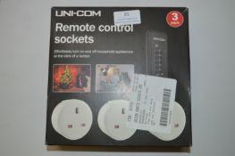 *Unicom Remote Control Sockets 3pk
