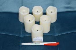 *Six LED Candles