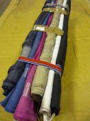 6 Rolls of Assorted Fabric ~1.6m width